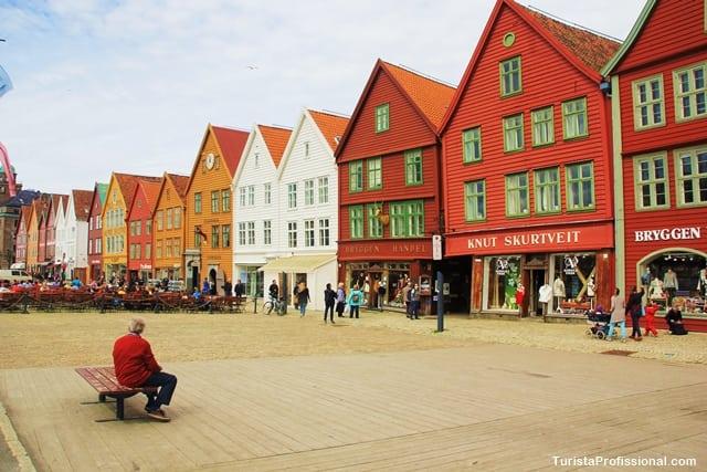 atrações turísticas - Bryggen, onde estão as principais atrações de Bergen