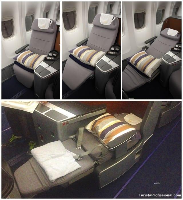 cadeira da classe executiva - Como é voar na Business Class da Lufthansa