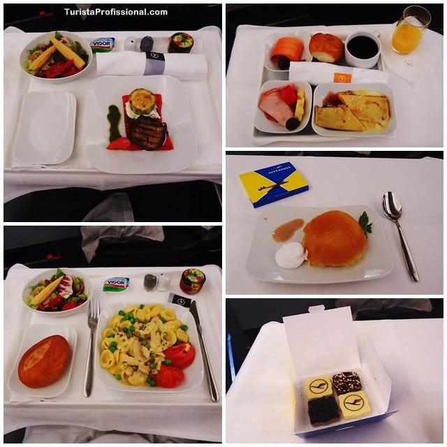 comida de avião - Como é voar na Business Class da Lufthansa