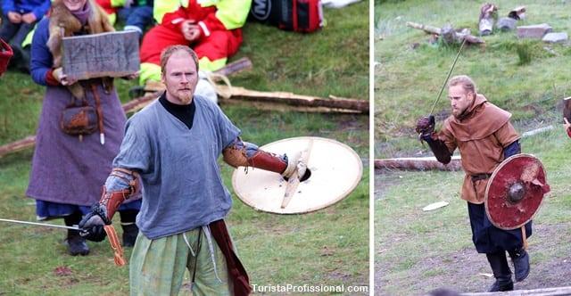 guerreiros vikings - Festival Viking em Haugesund, Noruega