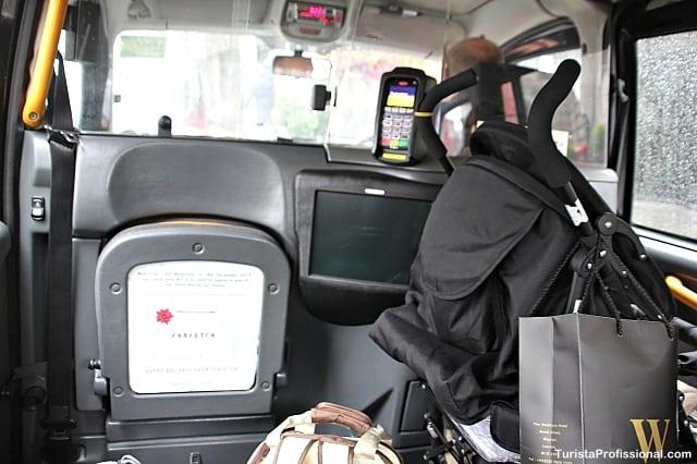 táxi em londres - Dicas para visitar Londres com bebê