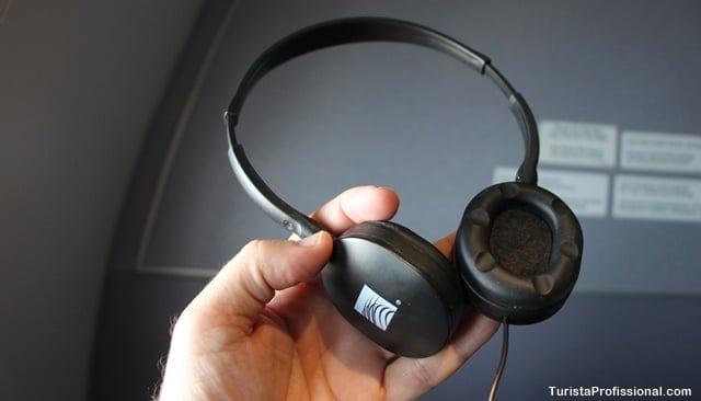 fone de ouvido avião - Como é voar na Classe Executiva da Copa Airlines