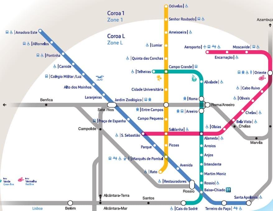 mapa do metrô de Lisboa - Metrô de Lisboa: tudo o que você precisa saber para usá-lo