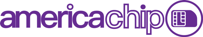 Logomarca americachip - Chip internacional America Chip: viaje conectado pelo mundo