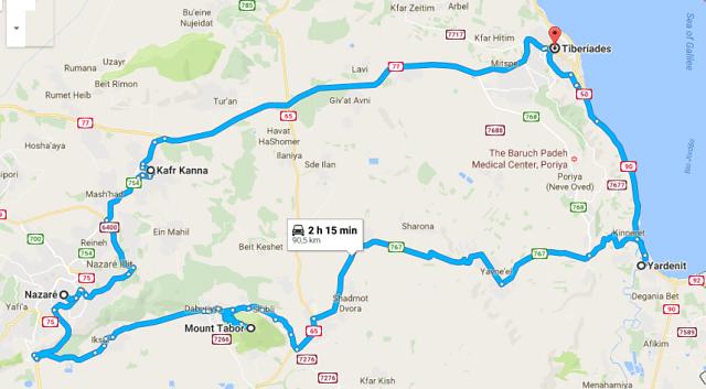 viagem de carro por Israel