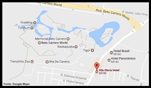 hotel ao lado do Beto Carrero
