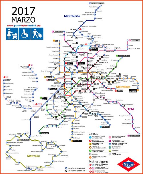 mapa de metrô de madri