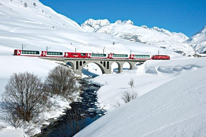 Glacier Express - Passeio de trem na Suíça com o Grand Train Tour
