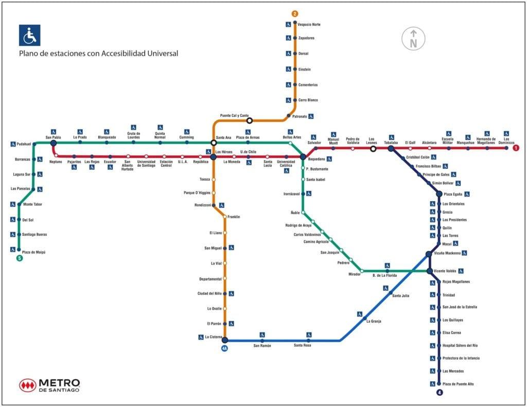 metro de santiago do chile 1024x791 - Metrô de Santiago do Chile: dicas práticas de como usar