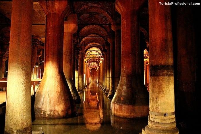 cisterna em istambul - Cisterna da Basílica em Istambul: incrível construção milenar