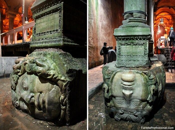 medusas cisterna da basilica - Cisterna da Basílica em Istambul: incrível construção milenar