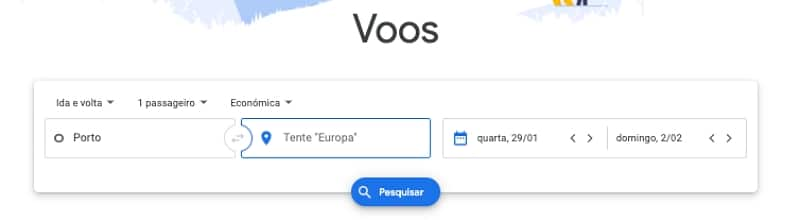 Como usar o Google Flights