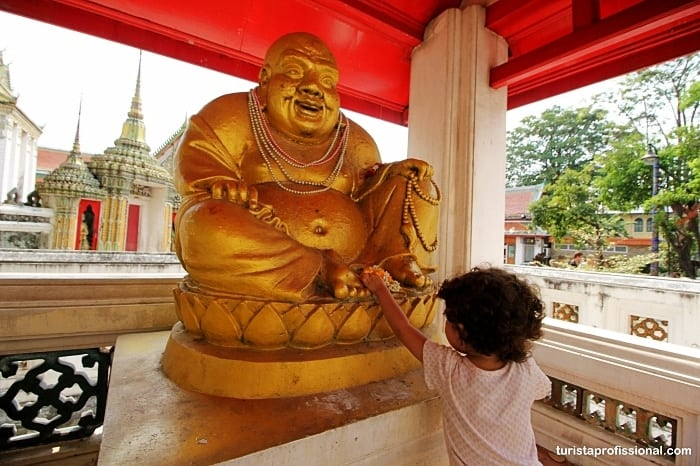 Viagem para Bangkok com criança