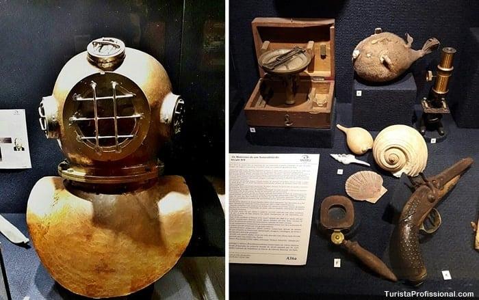 escafandro - Conheça o Museu Oceanográfico Univali, em Piçarras, SC