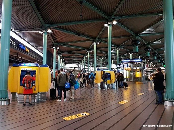 Onde pegar uber no aeroporto de Amsterdam
