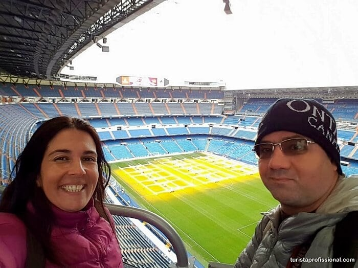 Visita ao estádio do Real Madrid, o Santiago Bernabéu