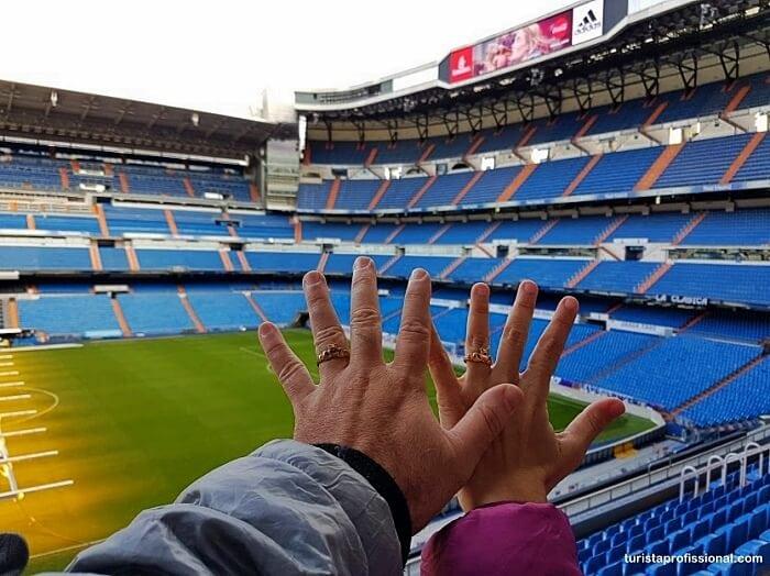 visitacao real madrid - Visita ao estádio do Real Madrid, o Santiago Bernabéu