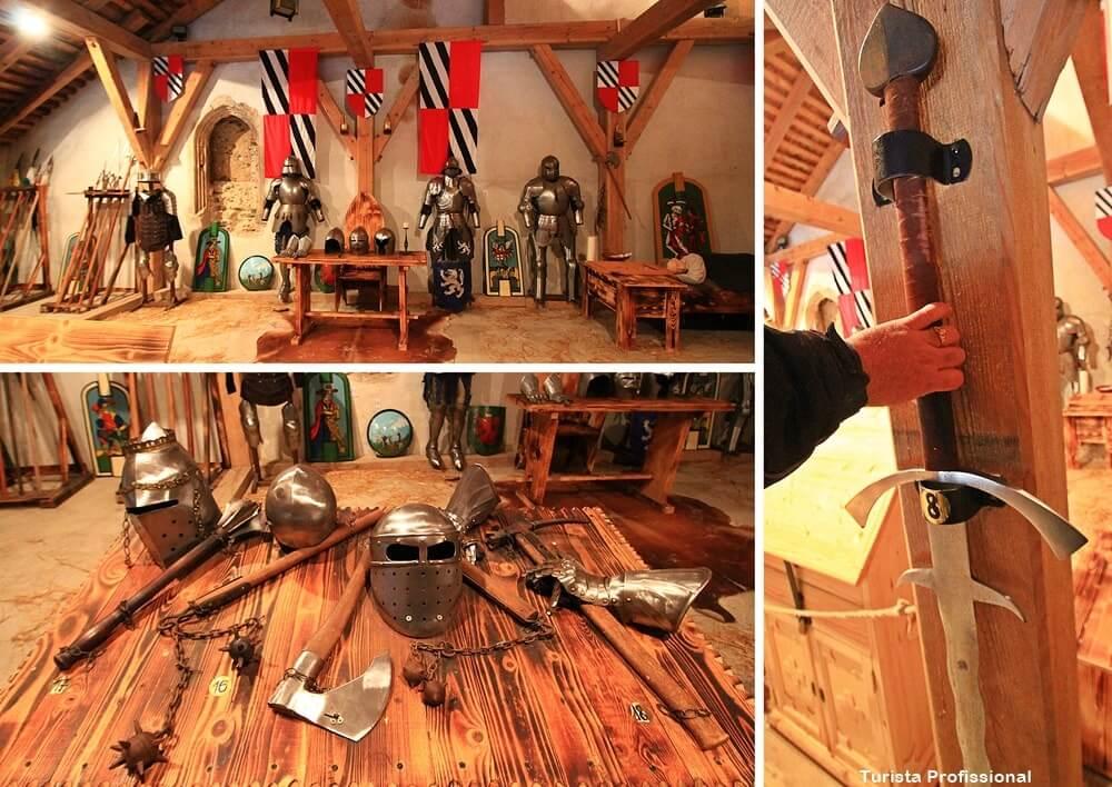 Armas no Castelo Predjama