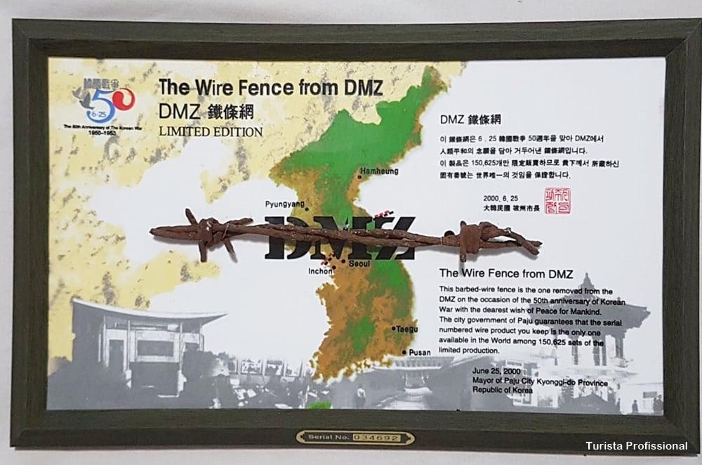 cerca arame farpado dmz - DMZ Tour: visitando a fronteira entre Coreia do Norte e Coreia do Sul