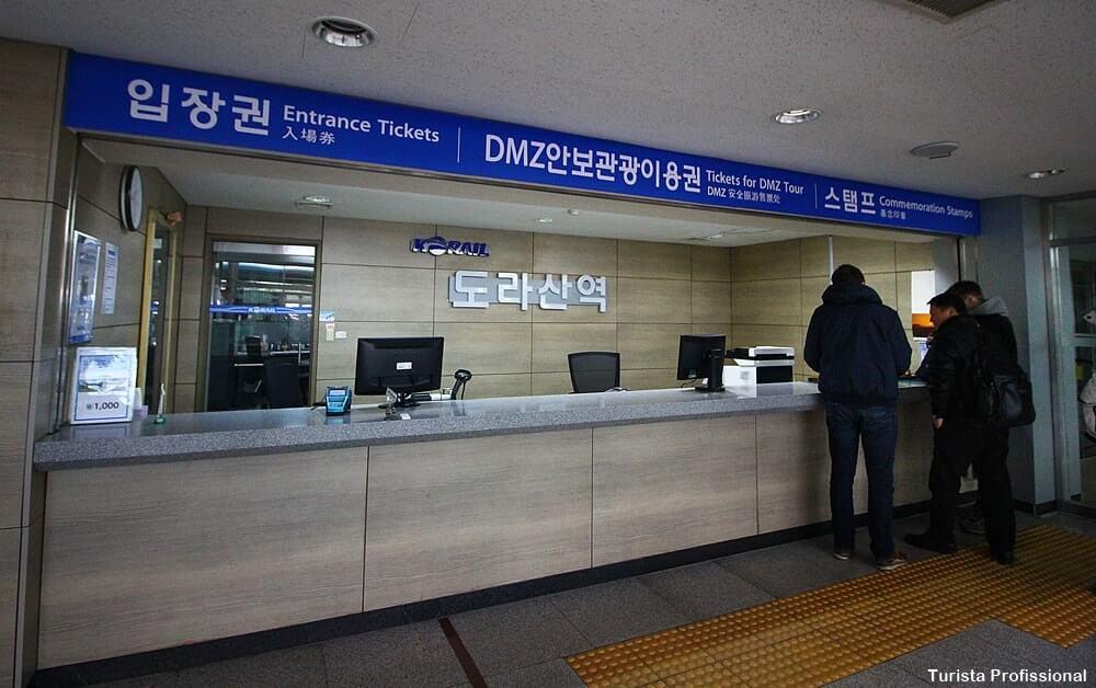 Estação de trem Dorasan na Coreia do Sul