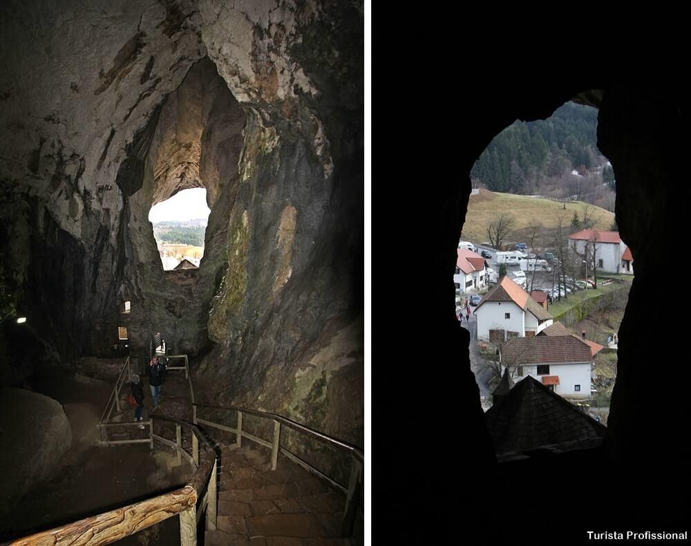 interior do castelo de predjama - Castelo de Predjama na Eslovênia