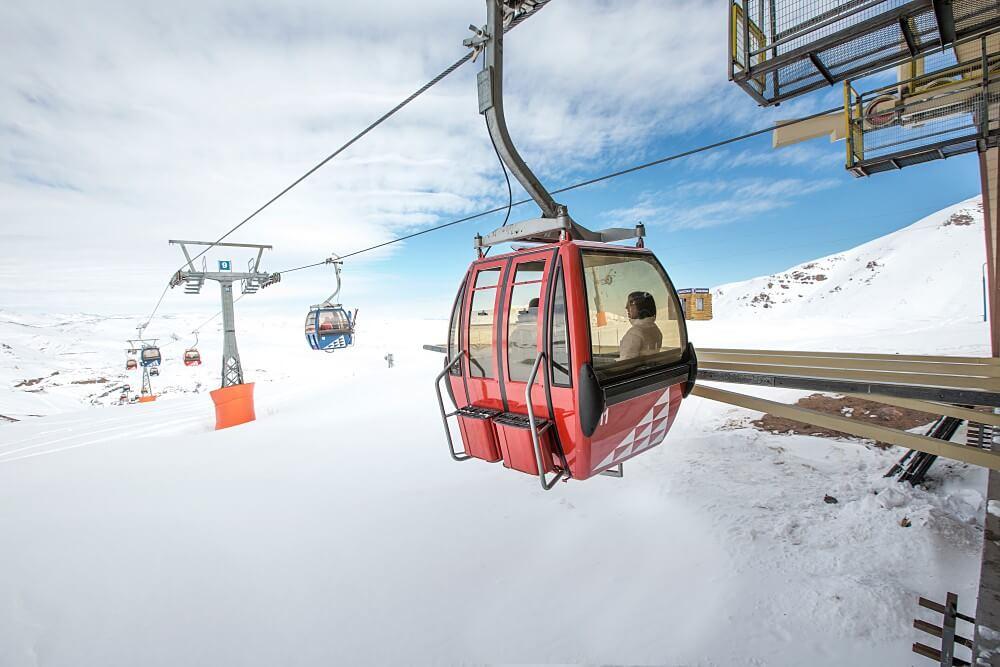 bate e volta ao Valle Nevado