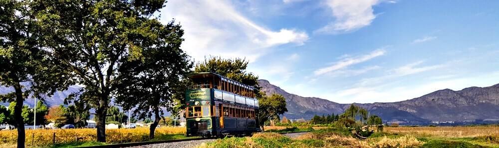 Trem do vinho na África do Sul