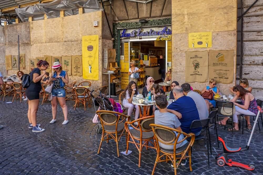 Cafés antigos de Roma