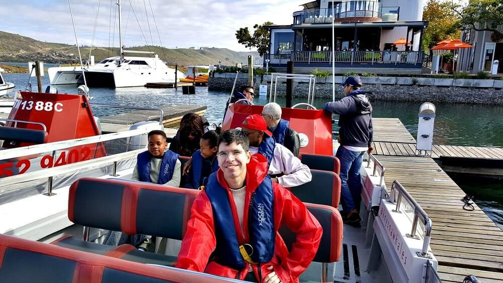 passeio de barco africa do sul