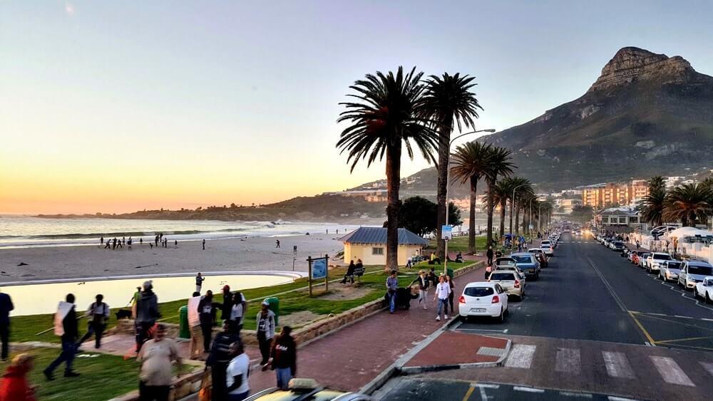 praia na Cidade do Cabo