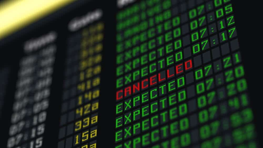 O que fazer em caso de voo cancelado