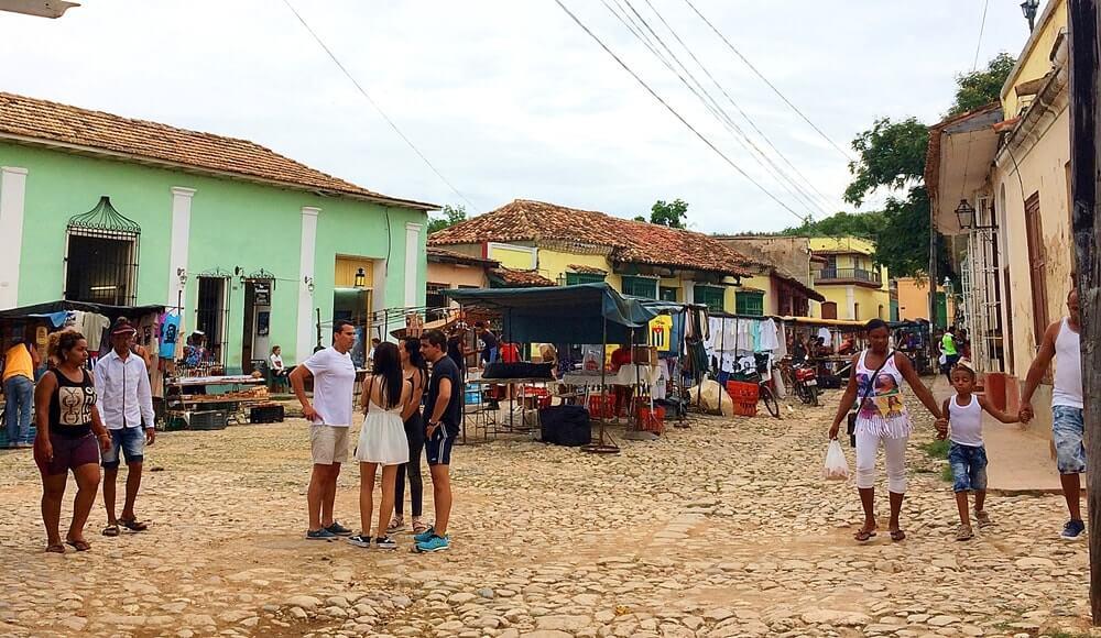 feirinha de artesanato de Cuba