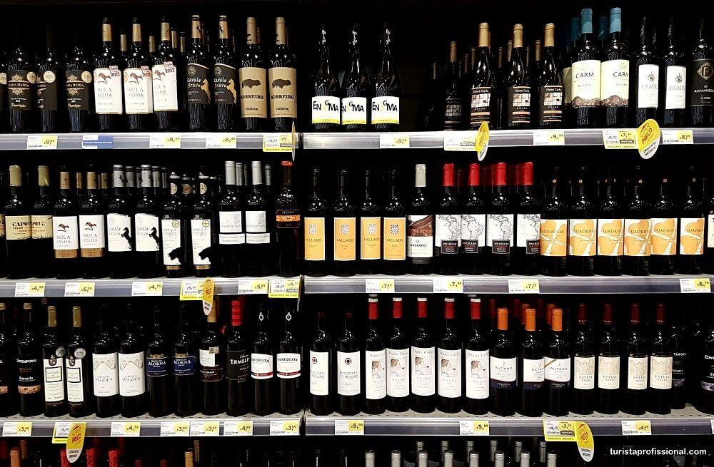 preços dos vinhos em Portugal