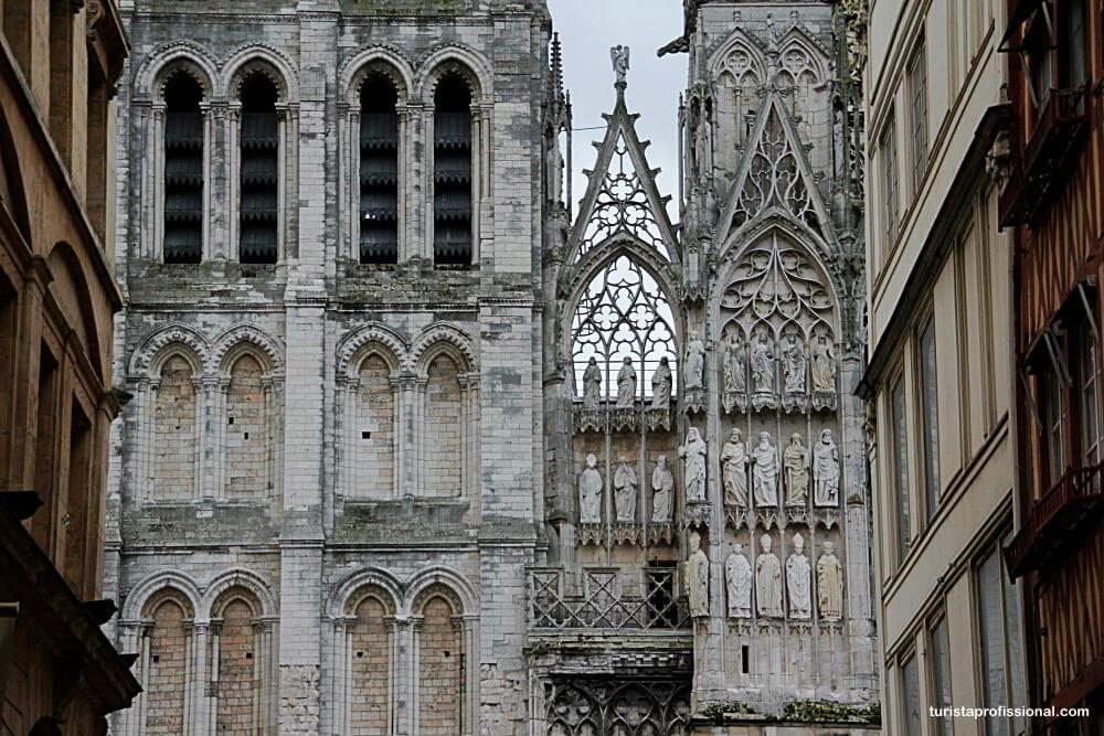 detalhes da Catedral de Rouen