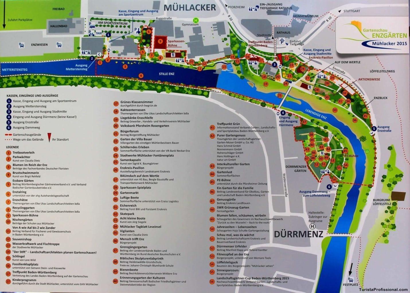Mapa do Gartenschau Enzgärten