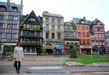 Rouen, na Normandia
