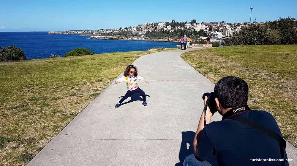 Sydney com criança