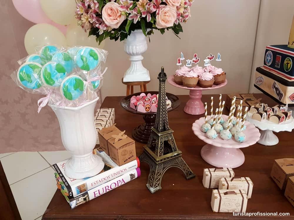 decoaracao de mesa tema viagem - Tema viagem para decoração de festa infantil, que tal?!