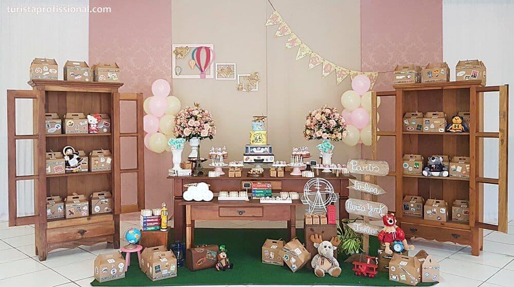 festa tema viagem - Tema viagem para decoração de festa infantil, que tal?!