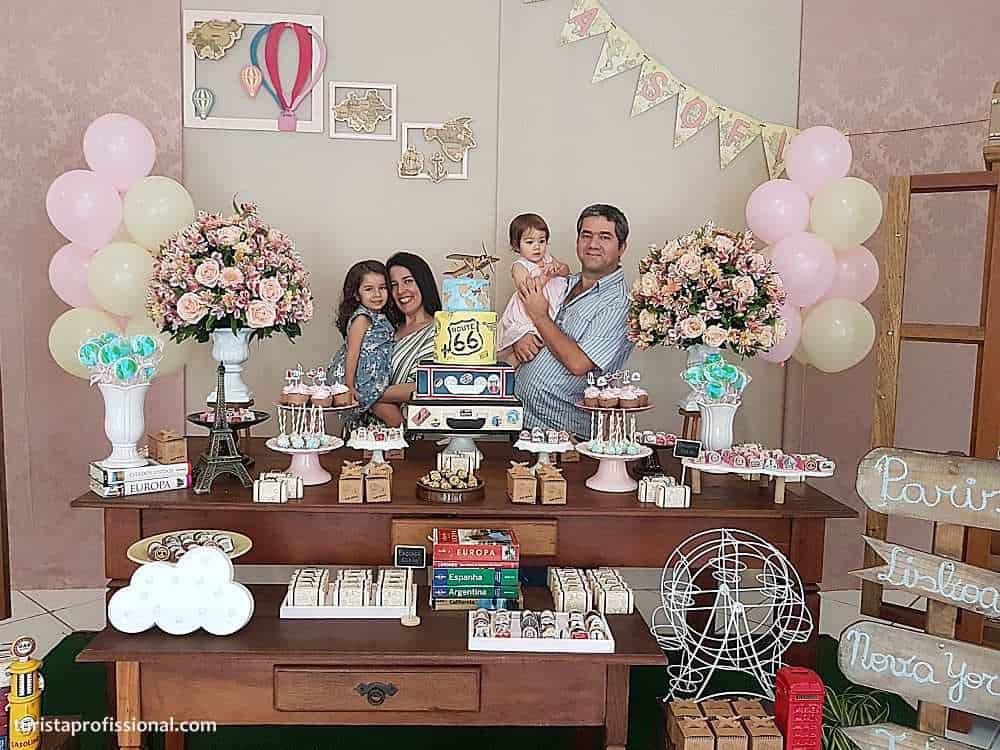 turista profissional festa tema viagem - Tema viagem para decoração de festa infantil, que tal?!