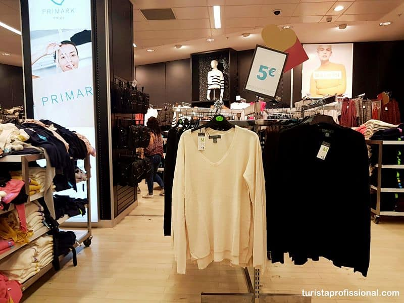 roupas nas lojas Primark
