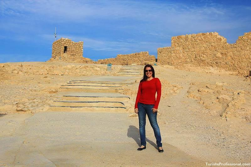 turista profissional em Massada israel