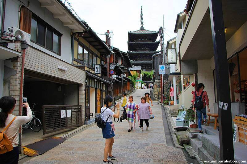 ladeira tradicional em Kyoto