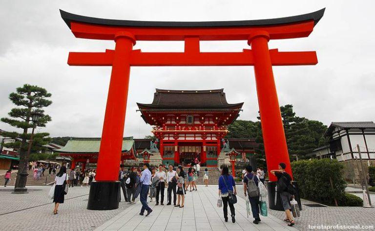 Templo dos Torii em Kyoto Japão