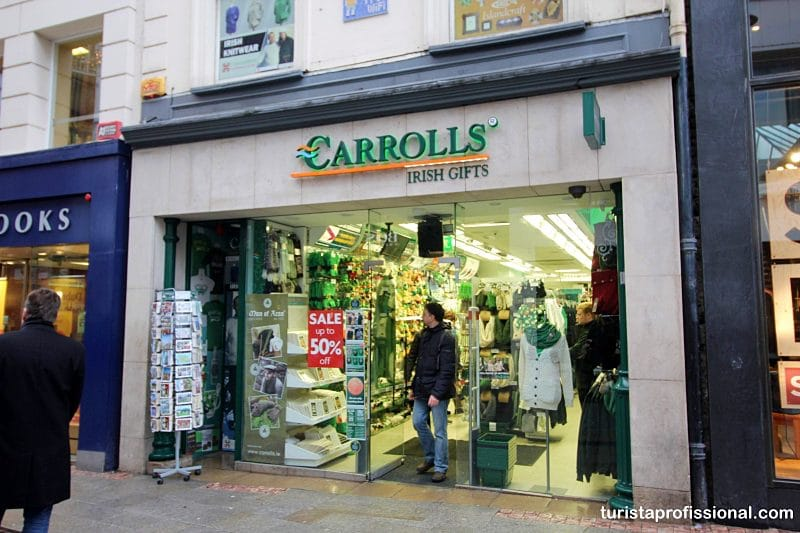 souveniers em Dublin