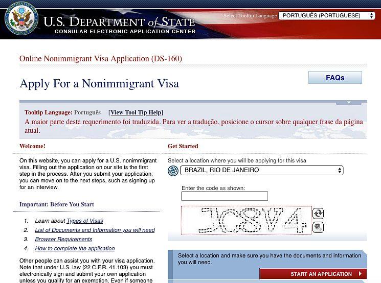 Como tirar o visto para os Estados Unidos