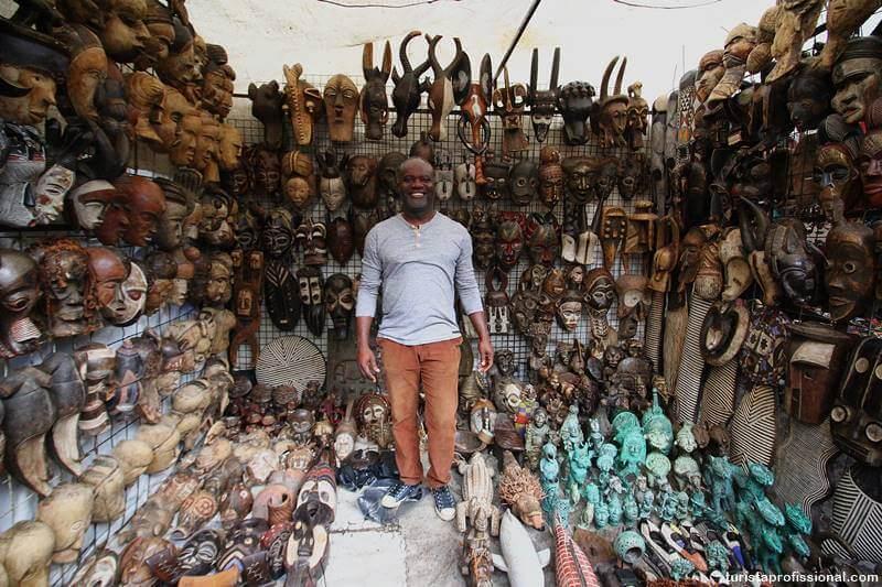 Artesanato africano em Cidade do Cabo