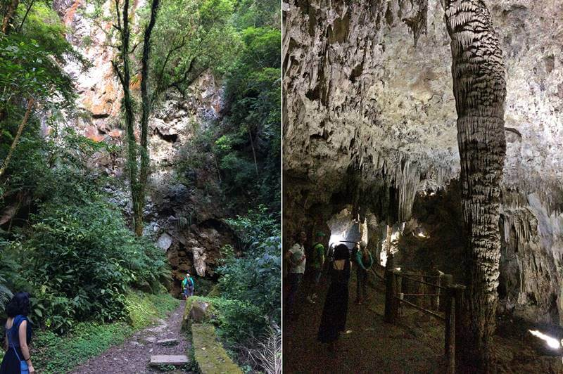 entrada da Caverna do Diabo em São Paulo