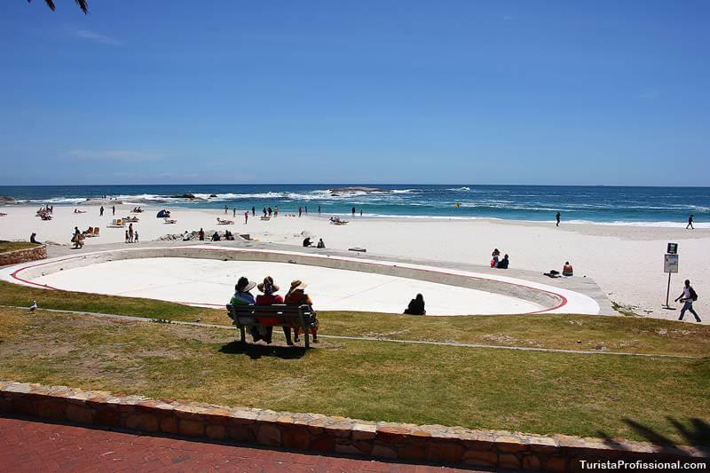 Praia em Cape Town