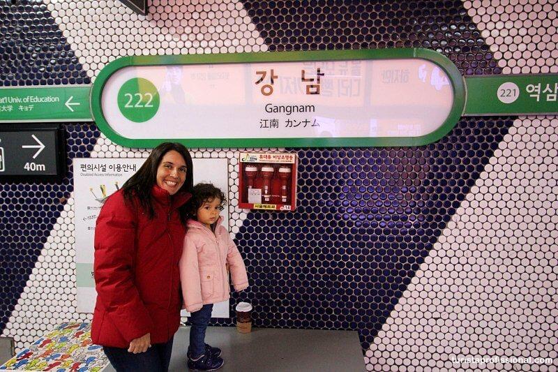 bairro Gangnan em Seul